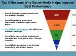 top 5 reasons why social media helps improve seo performance