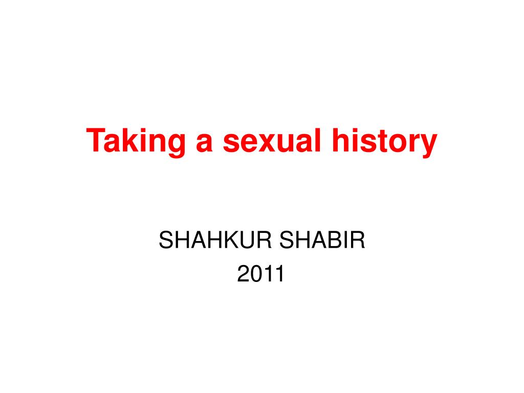 taking a sexual history l.