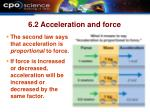 6 2 acceleration and force