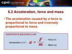 6 2 acceleration force and mass