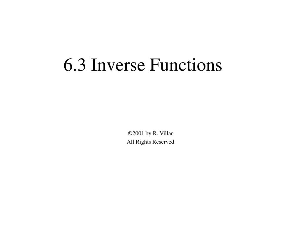 6 3 inverse functions l.