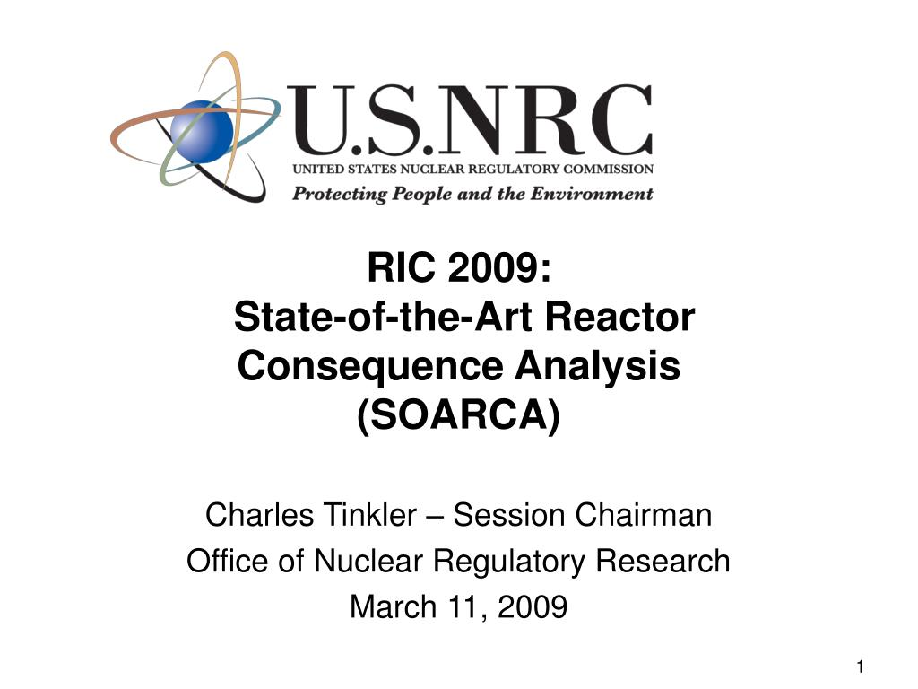 ric 2009 state of the art reactor consequence analysis soarca l.