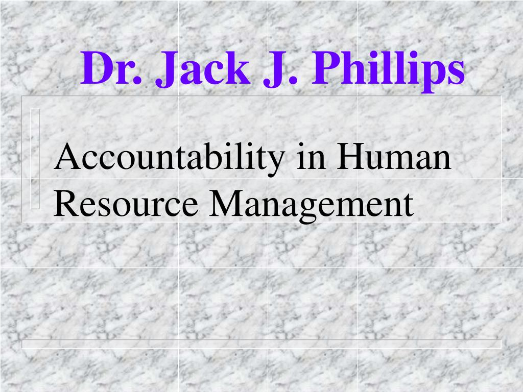 accountability in human resource management l.