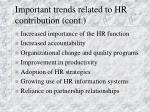 important trends related to hr contribution cont