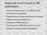 important trends related to hr contribution