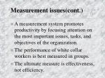 measurement issues cont26