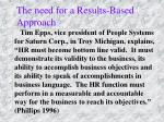 the need for a results based approach