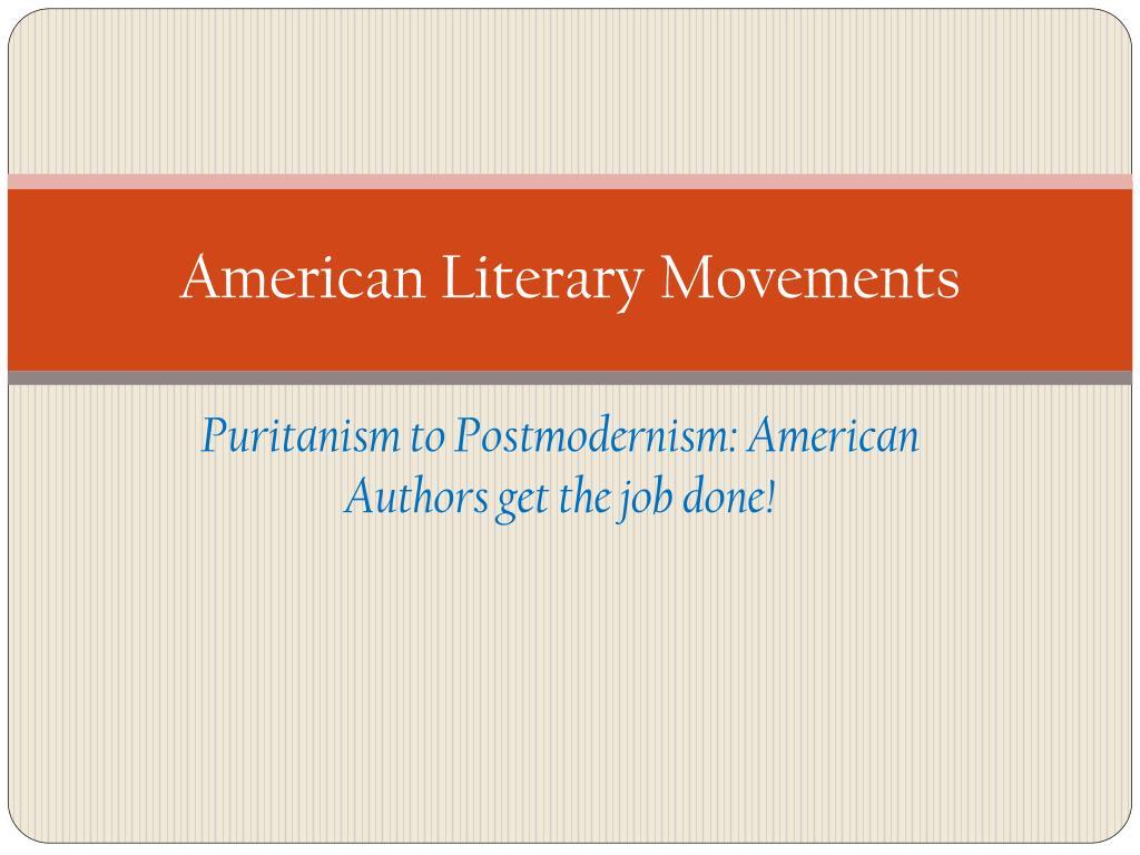 american literary movements l.