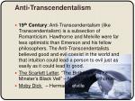 anti transcendentalism