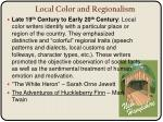 local color and regionalism