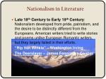 nationalism in literature