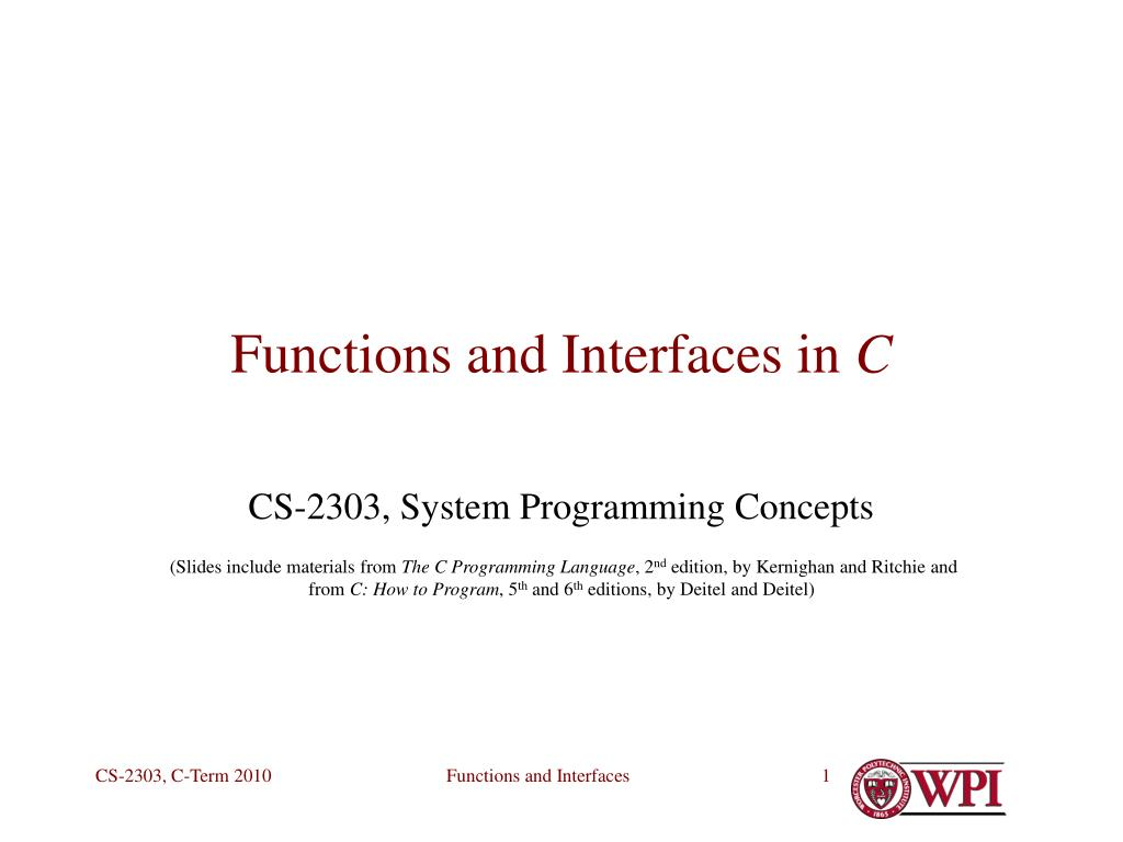 functions and interfaces in c l.