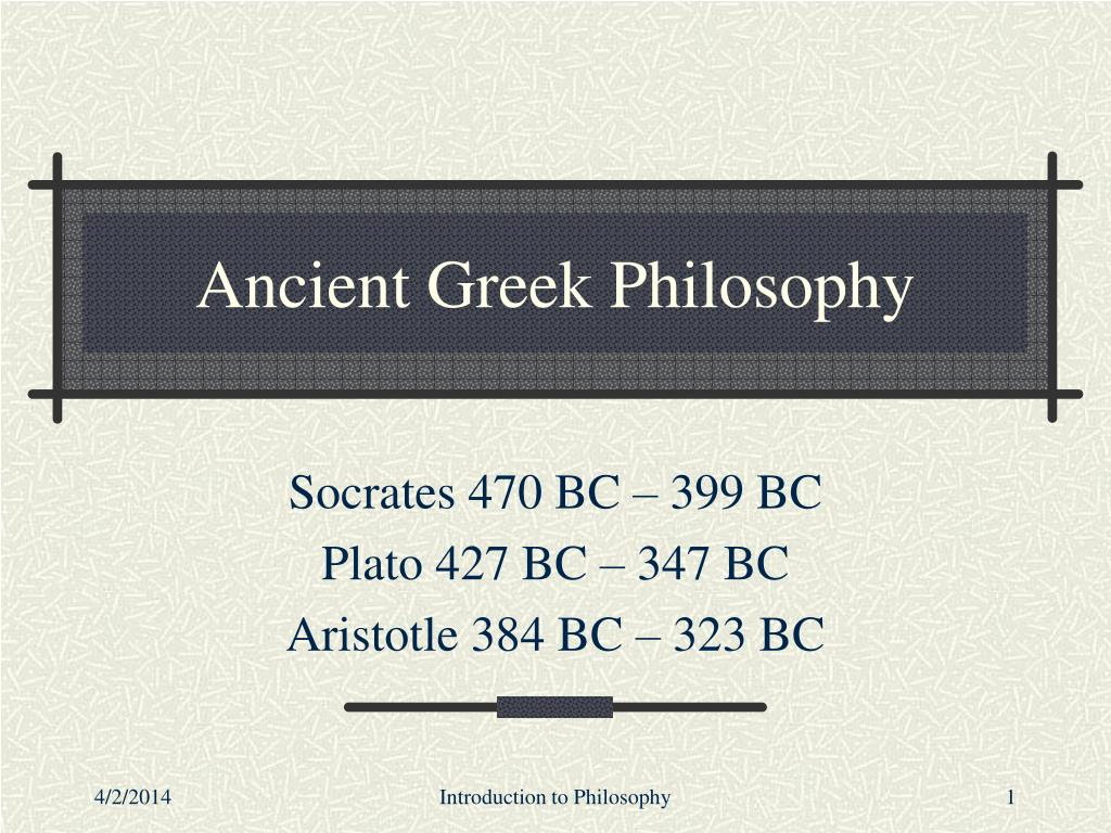 ancient greek philosophy l.