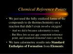 chemical reference points