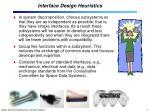 interface design heuristics