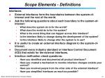 scope elements definitions