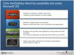 citrix xendesktop tend les possibilit s des suites microsoft vdi