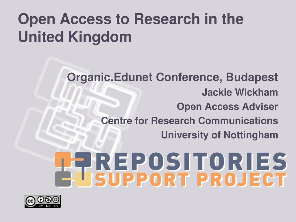 open access to research in the united kingdom l.