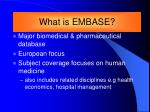 what is embase