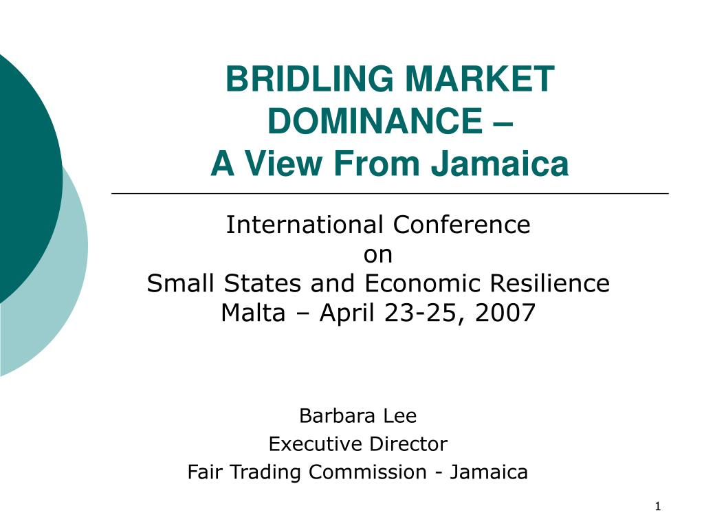 bridling market dominance a view from jamaica l.