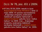 dz u nr 78 poz 651 z 2009r