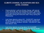 climate change glaciation and sea level change17