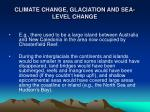 climate change glaciation and sea level change19