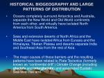 historical biogeography and large patterns of distribution4