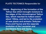 plate tectonics responsible for9