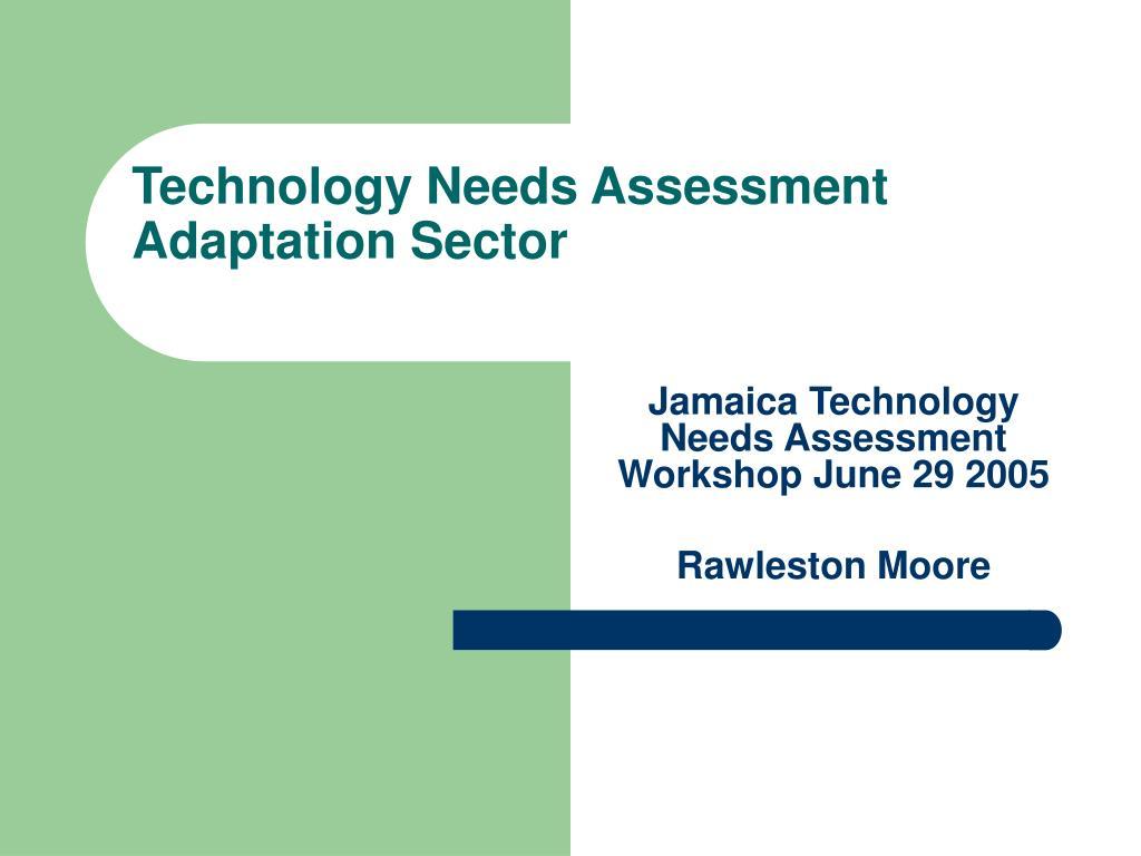 technology needs assessment adaptation sector l.