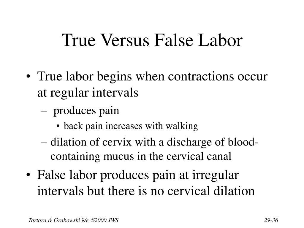 True Versus False Labor
