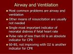airway and ventilation