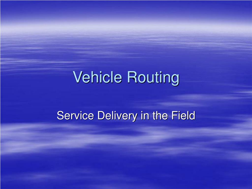 vehicle routing l.