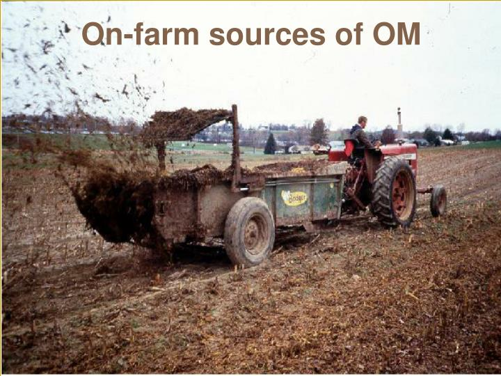 On-farm sources of OM