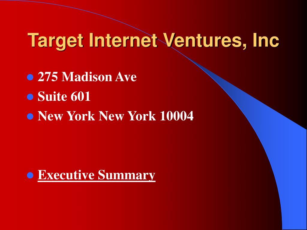 target internet ventures inc l.