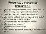 preguntas y cuestiones habituales 2