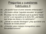preguntas y cuestiones habituales 4