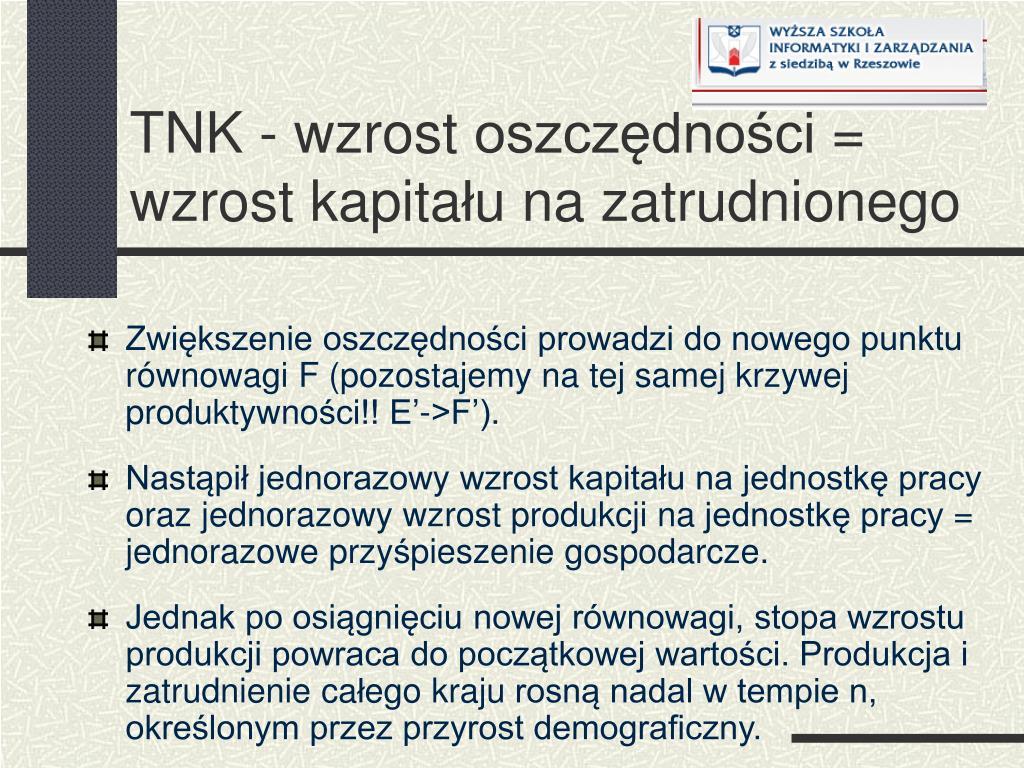 TNK - wzrost