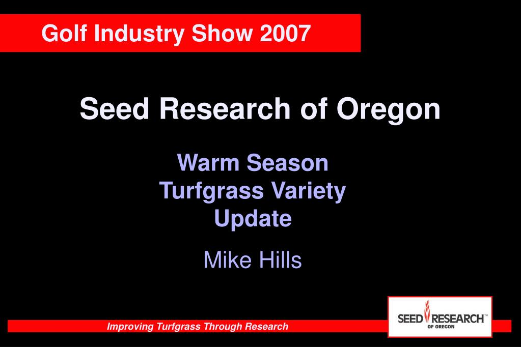 seed research of oregon l.