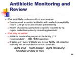 antibiotic monitoring and review