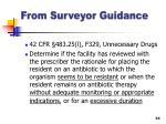 from surveyor guidance