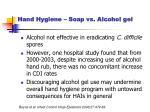 hand hygiene soap vs alcohol gel
