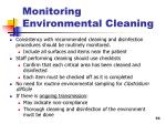 monitoring environmental cleaning