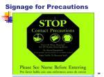 signage for precautions