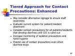 tiered approach for contact precautions enhanced