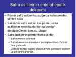 safra asitlerinin enterohepatik dola m