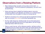observations from a rotating platform
