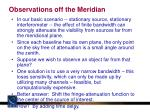 observations off the meridian