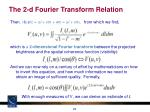 the 2 d fourier transform relation
