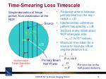 time smearing loss timescale